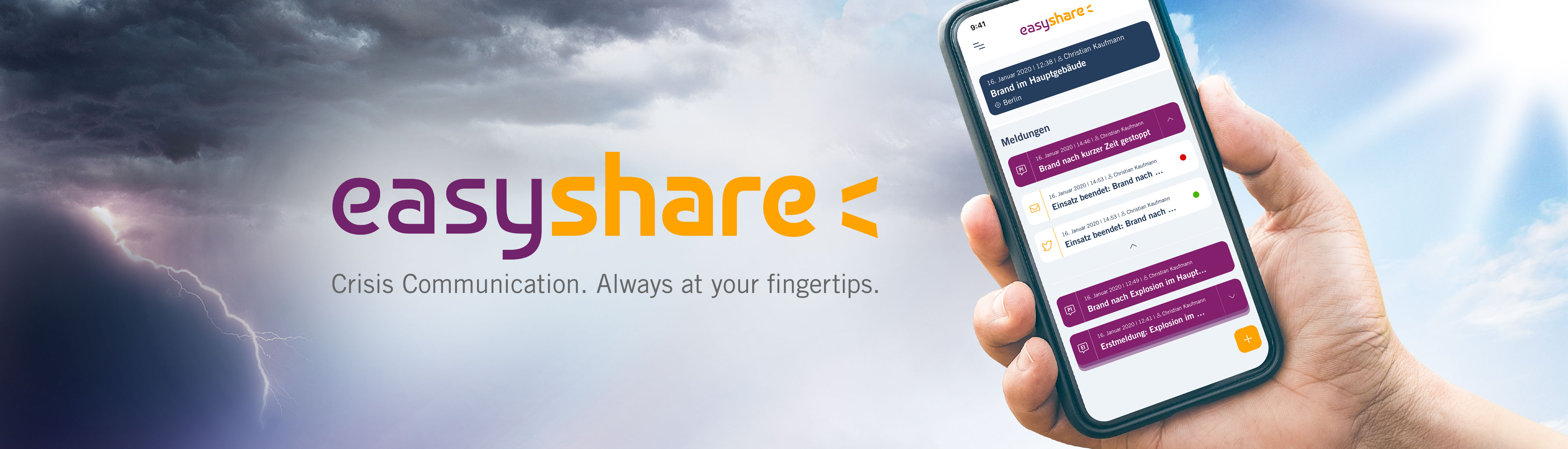easyshare – Crisis Communication. Always at your fingertips.